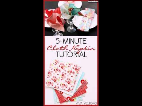 DIY  Minute Cloth Napkin Tutorial