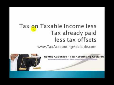 Simple explanation of tax in Australia by a tax agent
