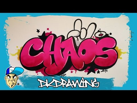 Graffiti Tutorial - How to draw chaos graffiti bubble style letters