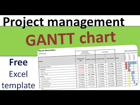 Free Project Planning GANTT Template in Excel