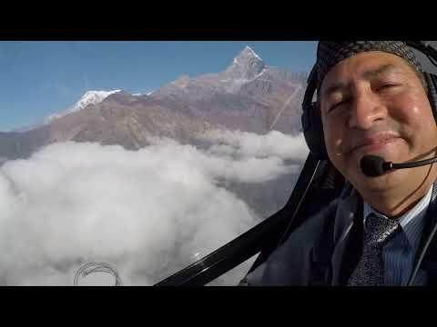 Nava raj Panta flying by Gyrocopter 2018 Jan 15 Heli Air Nepal Mountain Flight 1