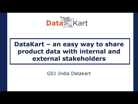 DataKart - An easy way to share product data with internal & external stakeholders