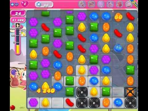 Candy Crush Saga Level 86 - 3 Star - no boosters