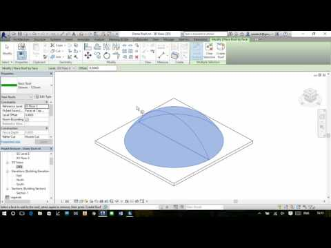 Revit 2016 Create Dome Roof by face