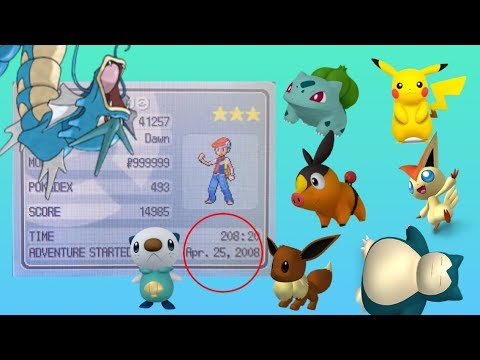 Pokemon Diamond Game Started in 2008 With Over 200 Hours + EVERY Pokemon!