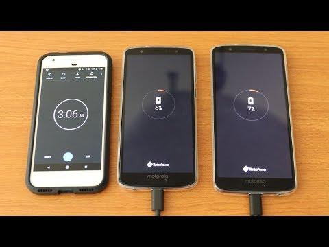 Moto G6 Vs Moto G6 Plus Battery Charging  Speed Test