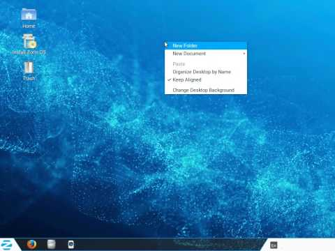 Zorin OS Core 9.1 - Boot and Desktop