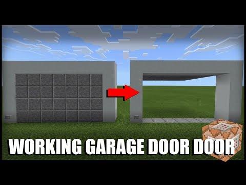 How to Make a Working Garage Door in Minecraft (Command Block)