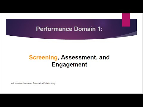 Alcohol and Drug Counselor Exam | Performance Domain 1: Screening