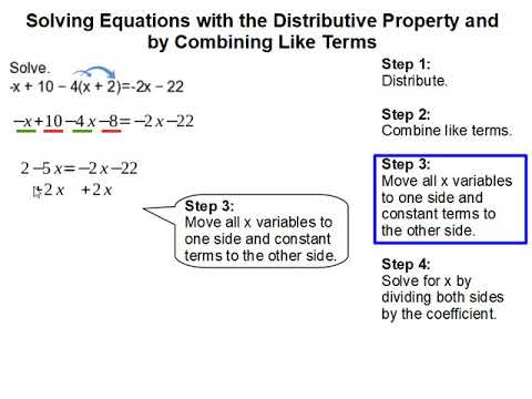 How to Solve equations with the distributive property and by combining like terms