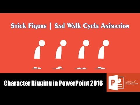 Stick Figure Sad Walk Cycle Animation in PowerPoint 2016 Tutorial | The Teacher