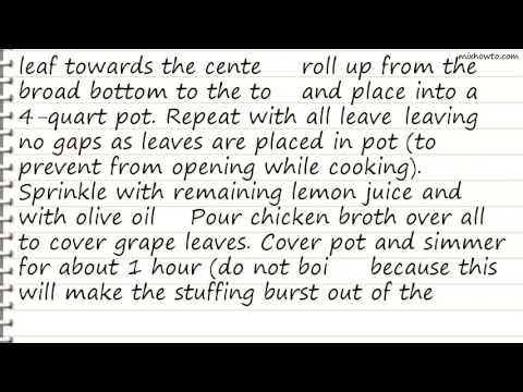 Recipe My Own Famous Stuffed Grape Leaves