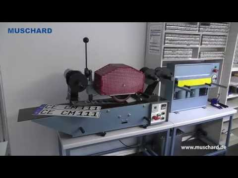 How to make car license plates / number plates with Muschard machines?