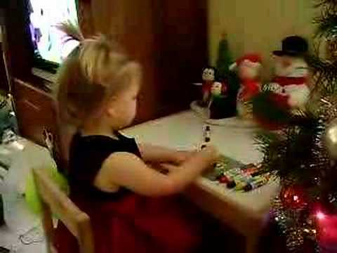 Paige writing her Christmas cards