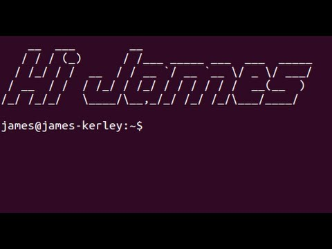Linux / Ubuntu Basics - Custom Terminal Welcome Using Figlet