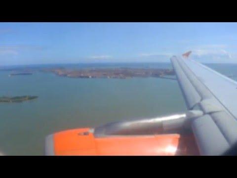 EasyJet A319 landing Venice Marcopolo Airport