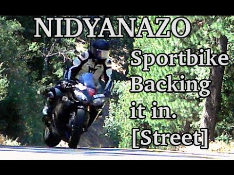 Sportbike 'Backing it in' on the street- Real RoadRace style - NIDYANAZO