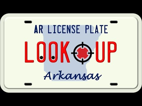 How to Search an Arkansas License Plate Number