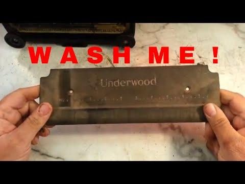 Underwood Typewriter Black Matte Paint Wash & Shine Process Clean Restore Luster No Decal Damage
