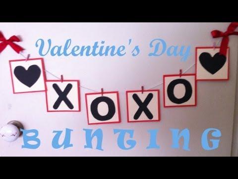 DIY Valentine's Day Bunting Tutorial
