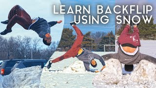 Learn How to Backflip Using Snow!