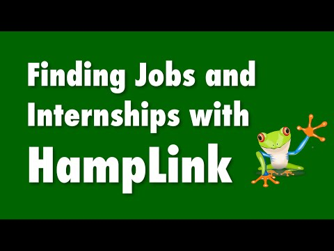 Finding Jobs and Internships with HampLink