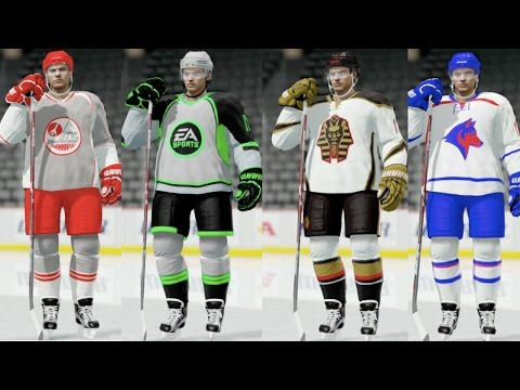 COOL CUSTOM AWAY JERSEYS IN NHL 17