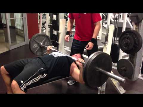 Bench press with chains and drop set