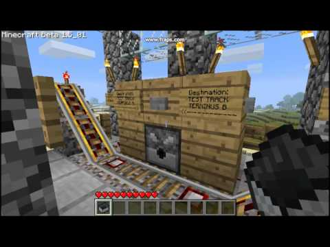 Powered Rail Bi-Directional Minecart System - Minecraft Beta 1.5