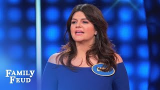 Casey Wilson has this answer in the bag | Celebrity Family Feud