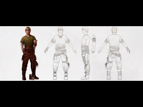 Creating a Character Turnaround from a Concept Piece