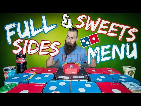 THE FULL DOMINO'S SIDES & SWEETS MENU CHALLENGE | BeardMeatsFood