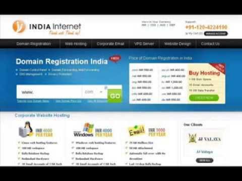 Domain Registration & Web Hosting Services   India Internet