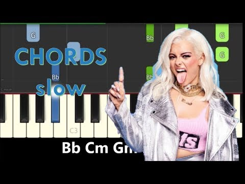 Piano Chords for Bebe Rexha Meant To Be ft. Florida Georgia Line - Slow Easy Tutorial