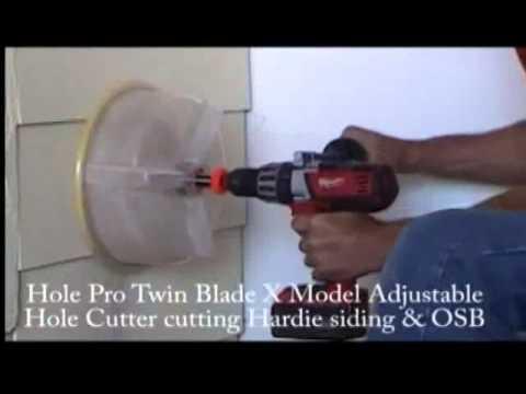 Hole Pro Milwaukee Adjustable Twin Blade Hardie Siding demo