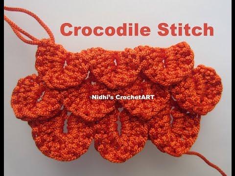 How To Crochet- Crocodile Stitch Tutorial