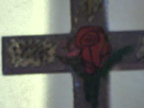 Artistic Cross With Rose