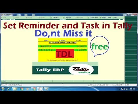 Tally Erp 9-Task and Reminder