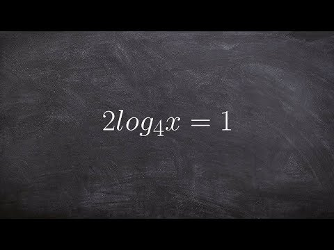Solving a logarithmic equation by converting equation to exponential form