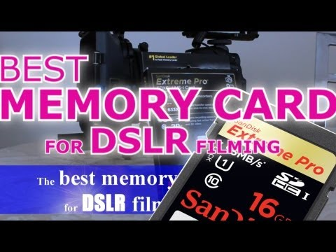 The BEST memory card for DSLR filming