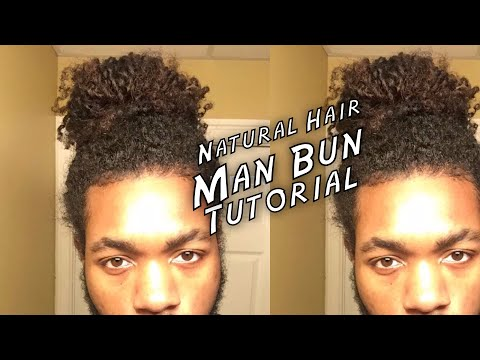 Man Bun Tutorial For Black Men (Naturally Curly Hair)