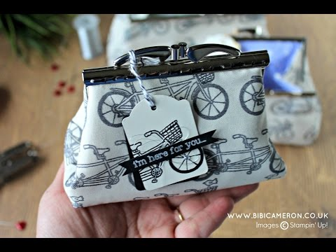 DIY  Pattern for clutch purses  with metal frames and custom fabric ( Part 1 of 2)