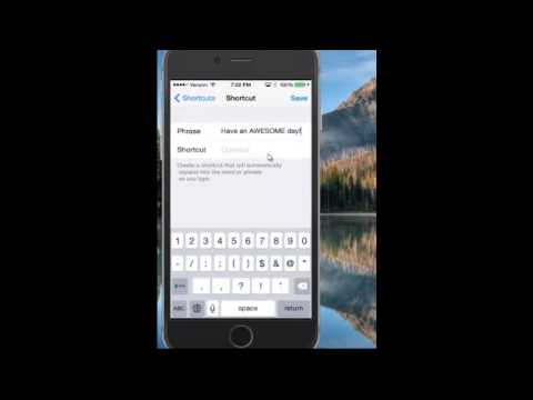 How To Create Keyboard Shortcuts on iPhone