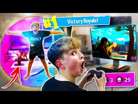 This Kid Won a Game of FORTNITE in a Zorb Ball... [Dangerous]