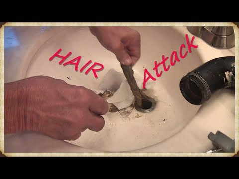How to unclog a sink from the Attack of the HAIR!! without chemicals