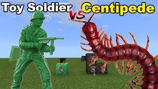 Toy Soldier Vs Centipede   Minecraft Pe