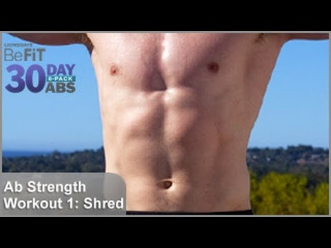 Ab Strength Workout 1: Shred | 30 DAY 6 PACK ABS