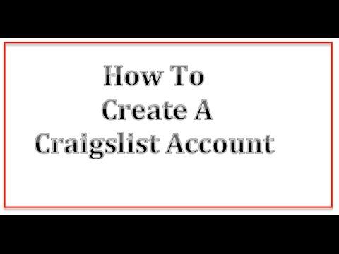 How To Create A Craigslist Account