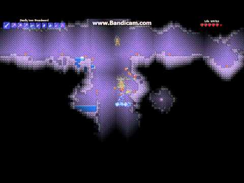 Terraria - How to mine a shadow orb.