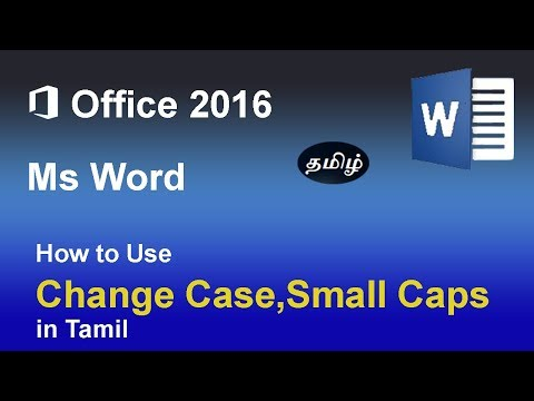 Microsoft word| Using Change case option and small caps (Uppercase, Lowercase, Title case etc)